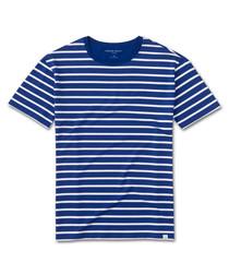 Alfie blue & white stripe T-shirt
