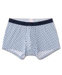 Blue cotton spotty boxers