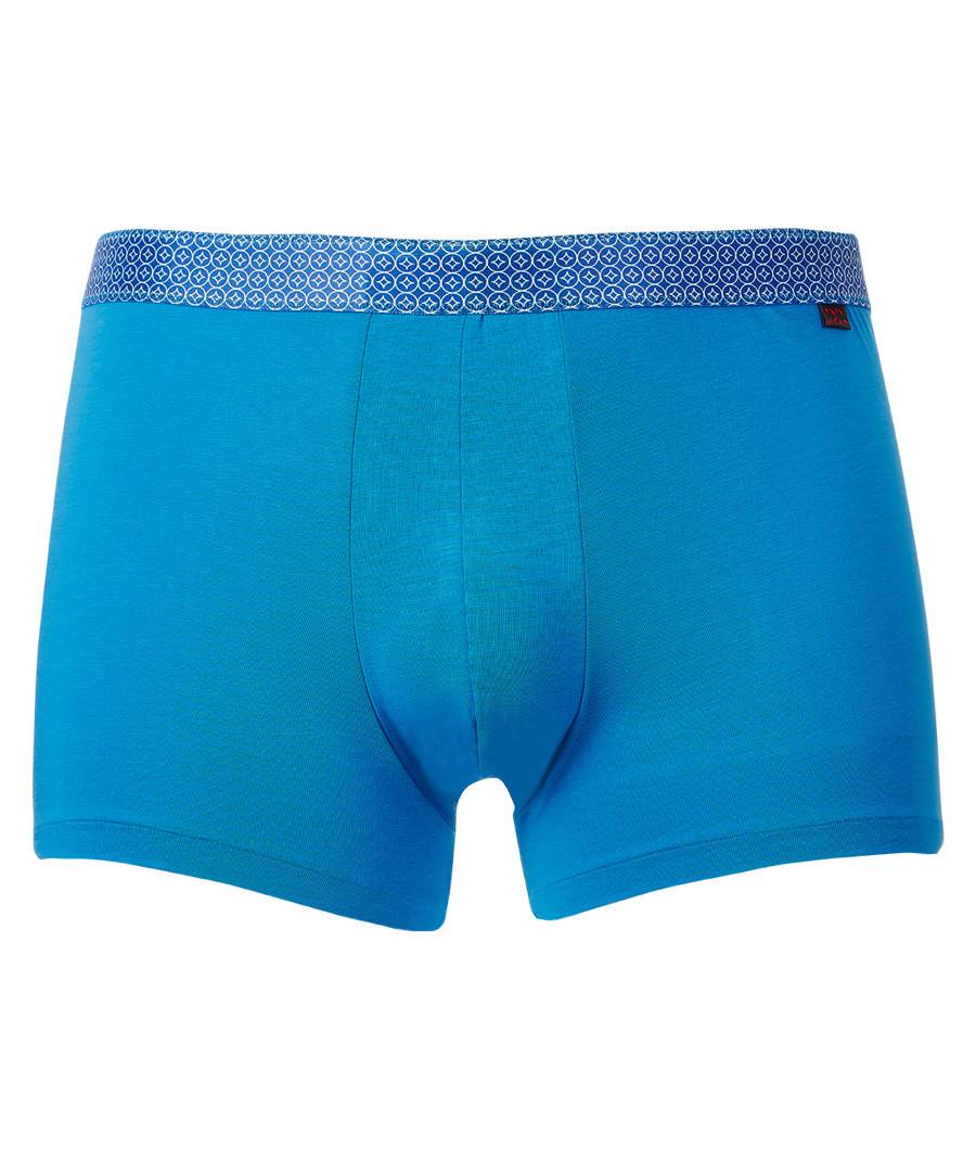 Blue cotton blend boxers Sale - derek rose