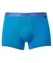 Blue cotton blend boxers
