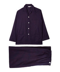 Navy pure cotton pyjama set