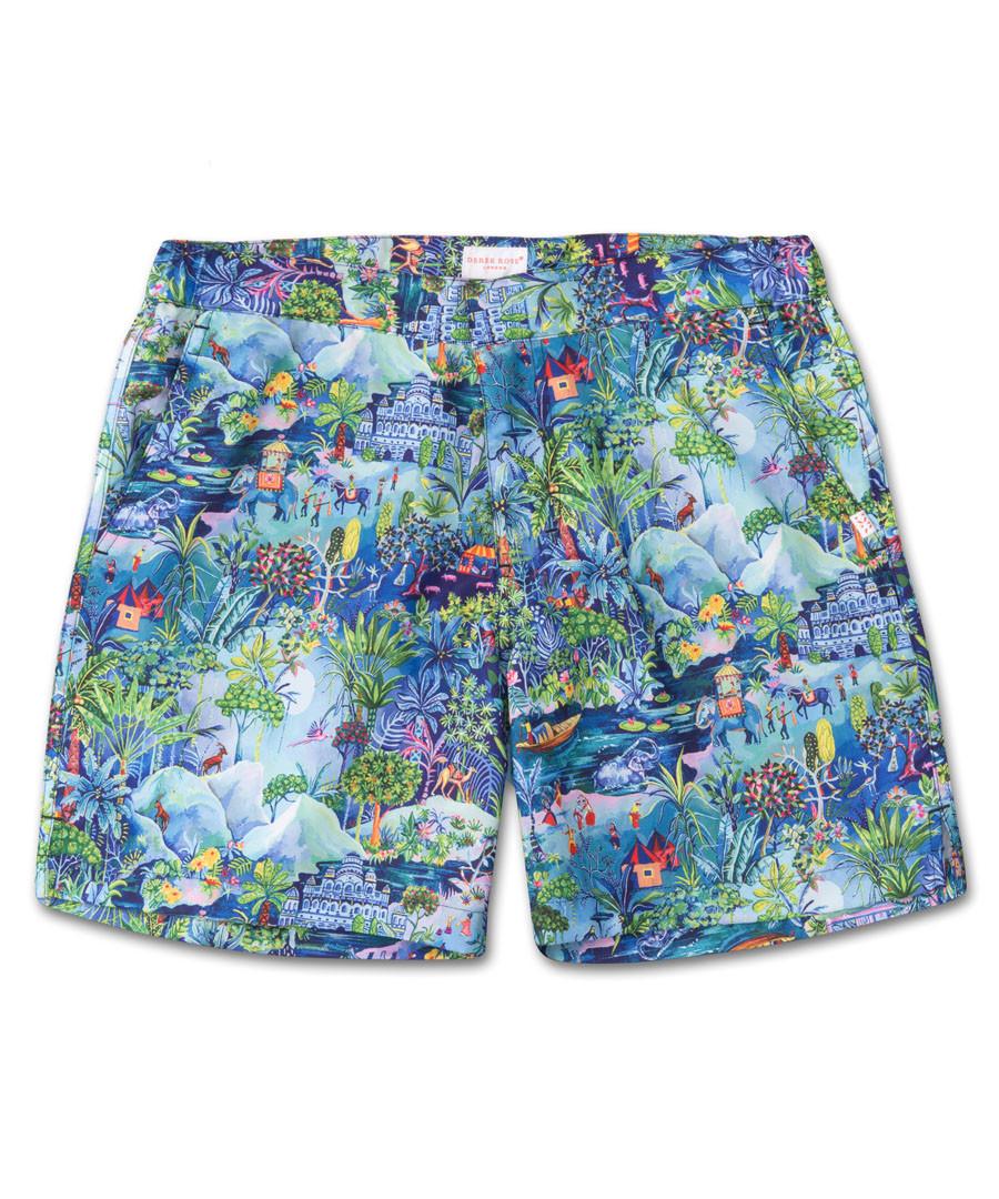 Multi-colour aquarium swimming shorts Sale - Derek Rose