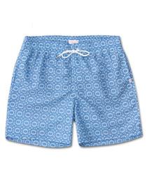 Blue brocade swimming shorts
