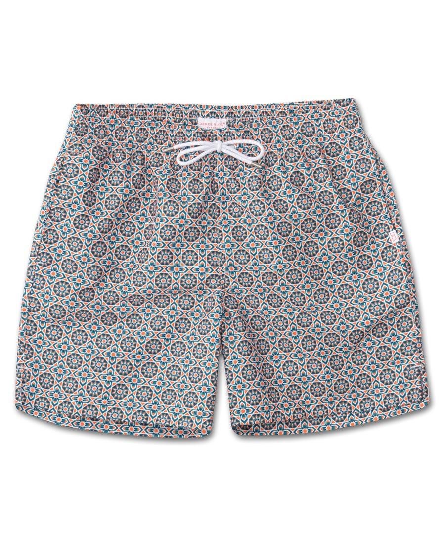 Black brocade swimming shorts Sale - Derek Rose