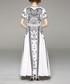 White & black round-neck maxi dress Sale - yyfs Sale