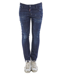 Cool Girl blue cotton stretch jeans