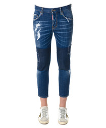 Blue cotton skater jeans