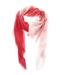 Red cotton & silk blend scarf