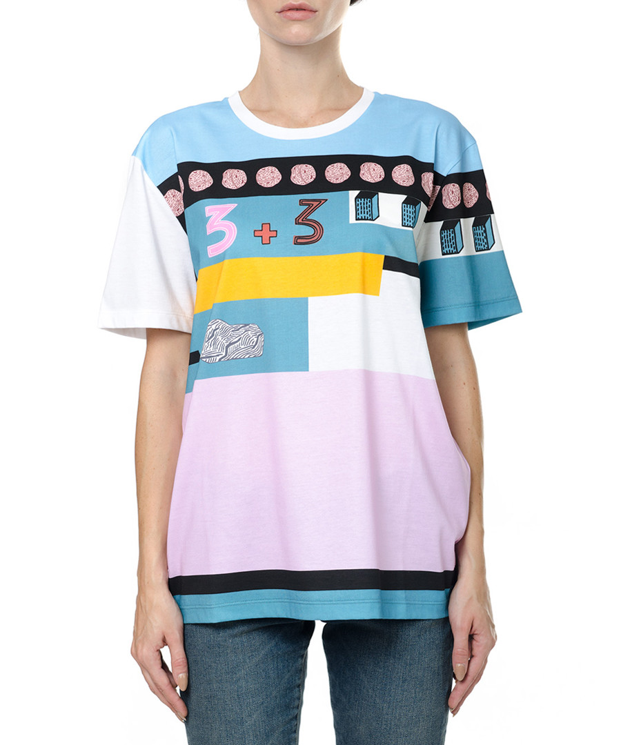 Multi-colour cotton print T-shirt Sale - valentino