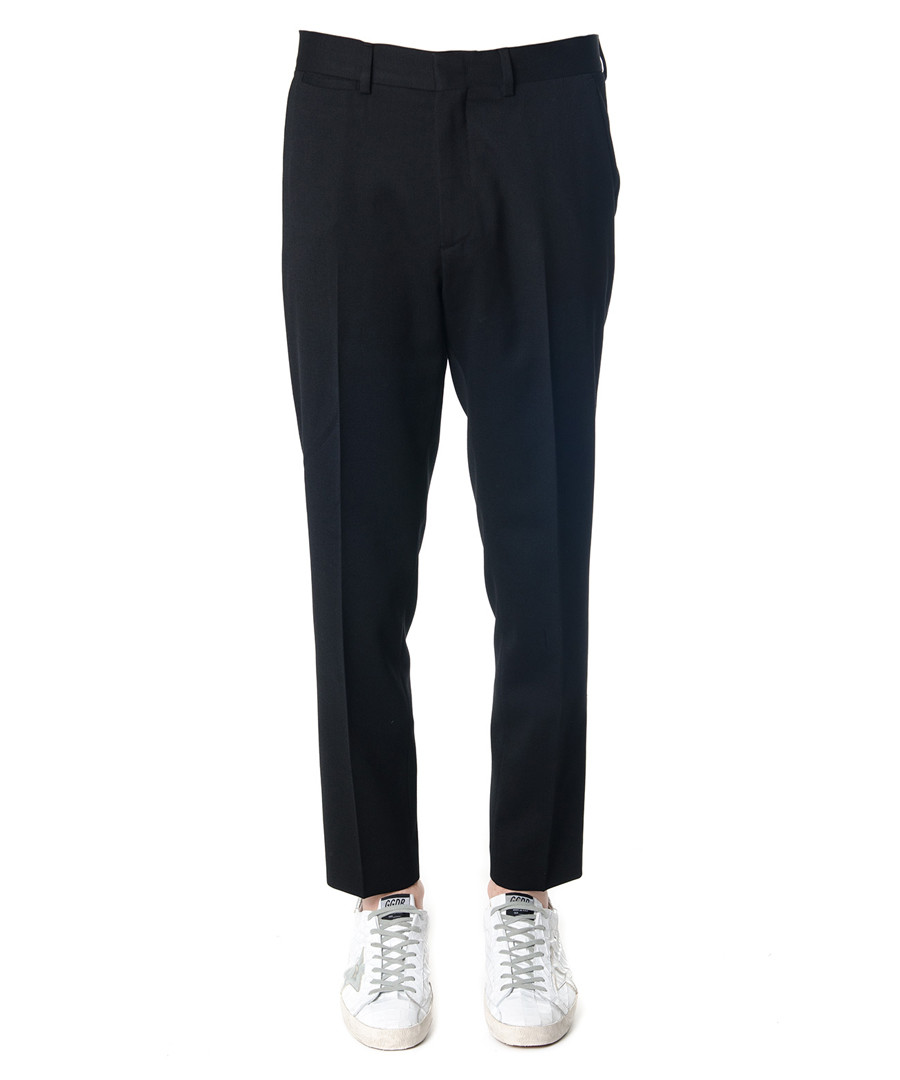 Black wool blend trousers Sale - alexander mcqueen