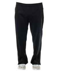 Black cotton blend tracksuit bottoms