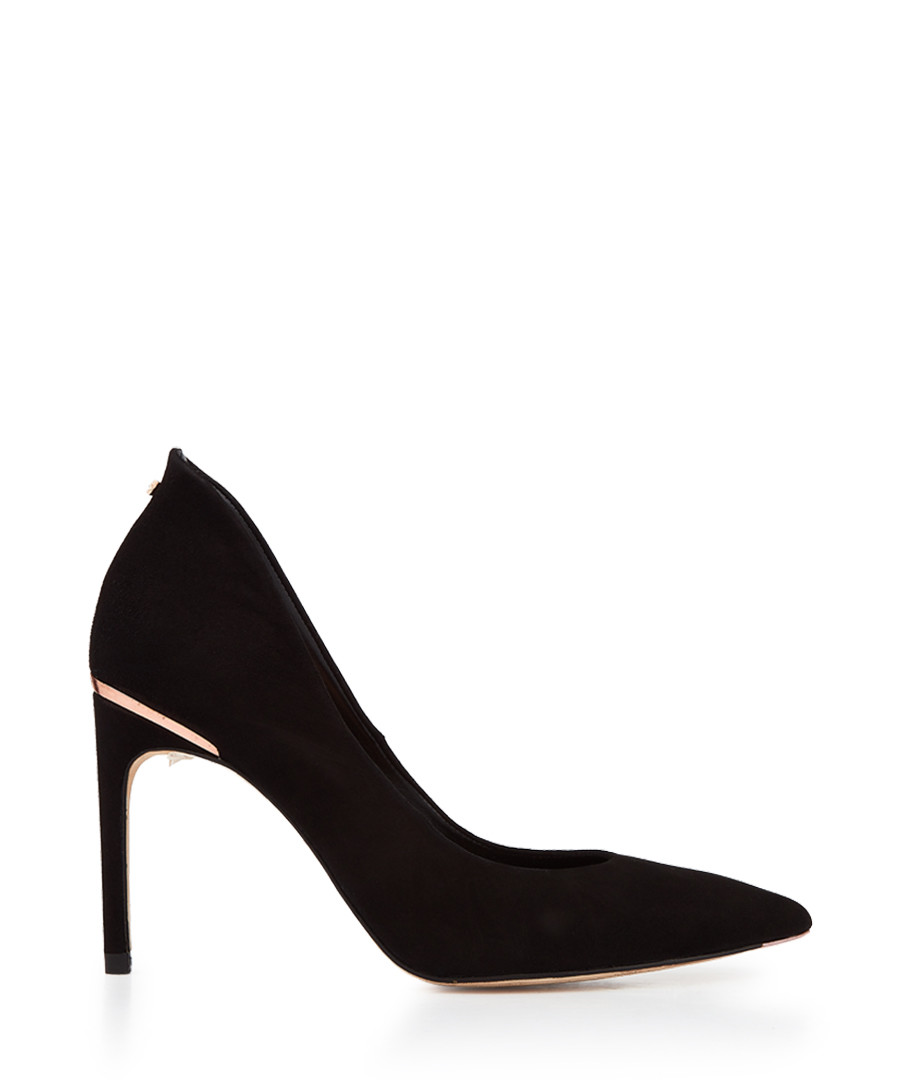 Black suede metallic detail heels Sale - ted baker