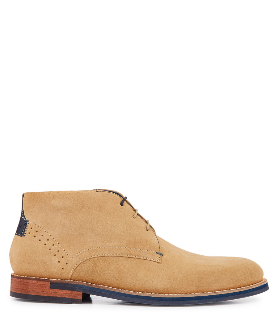 Sand-tone suede desert boots Sale - ted baker