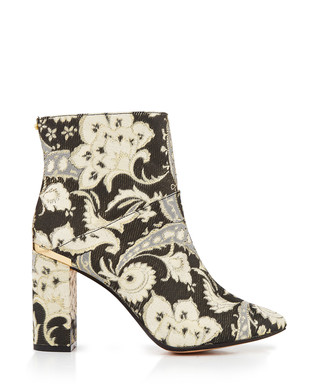 a6c74984f8a9 Black   gold paisley print heeled boots Sale - Ted Baker Sale