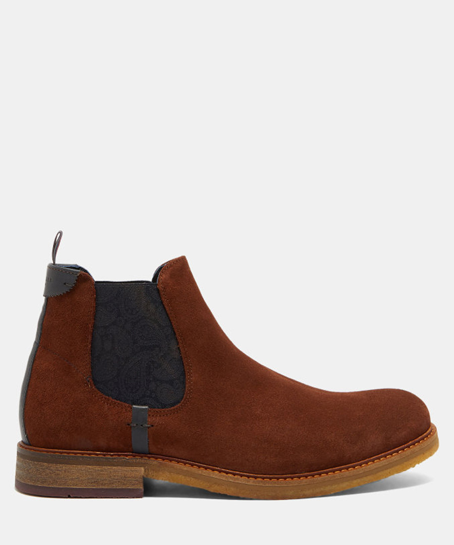 Brown suede Chelsea boots Sale - ted baker