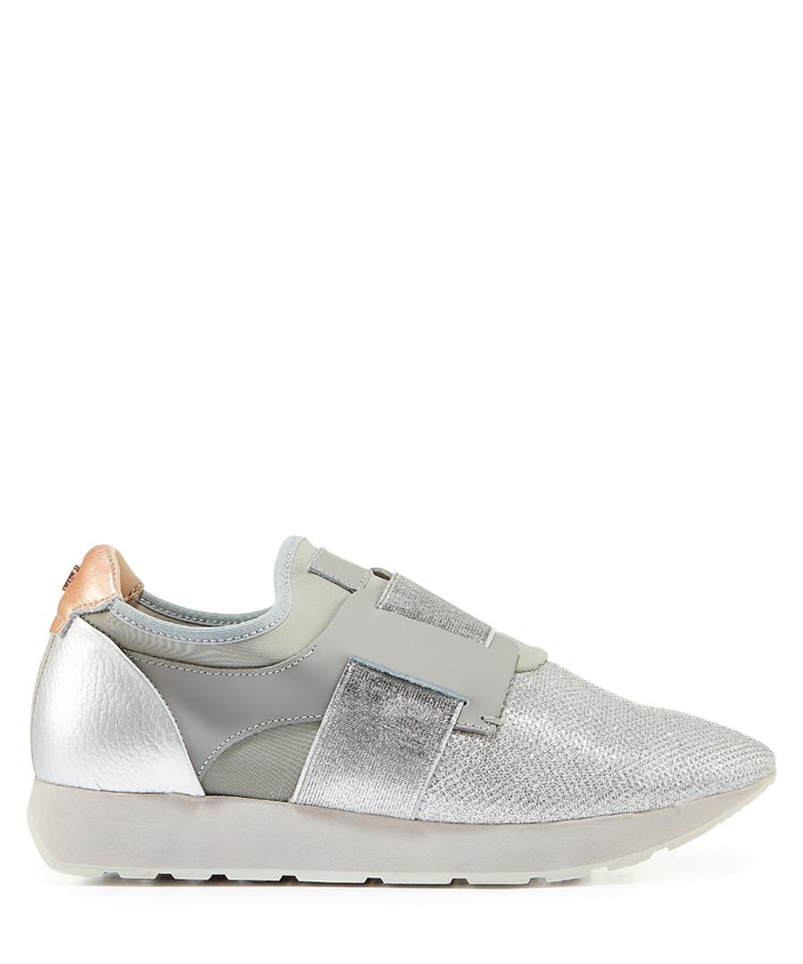 Grey metallic stripe slip-on sneakers Sale - ted baker