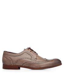 Grey leather & suede brogues