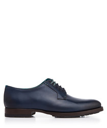 Dark blue leather Derby shoes