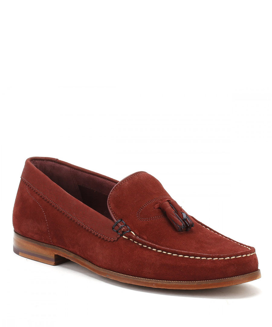 Dark red leather loafers Sale - ted baker