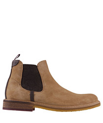 Sand leather ankle Chelsea boots