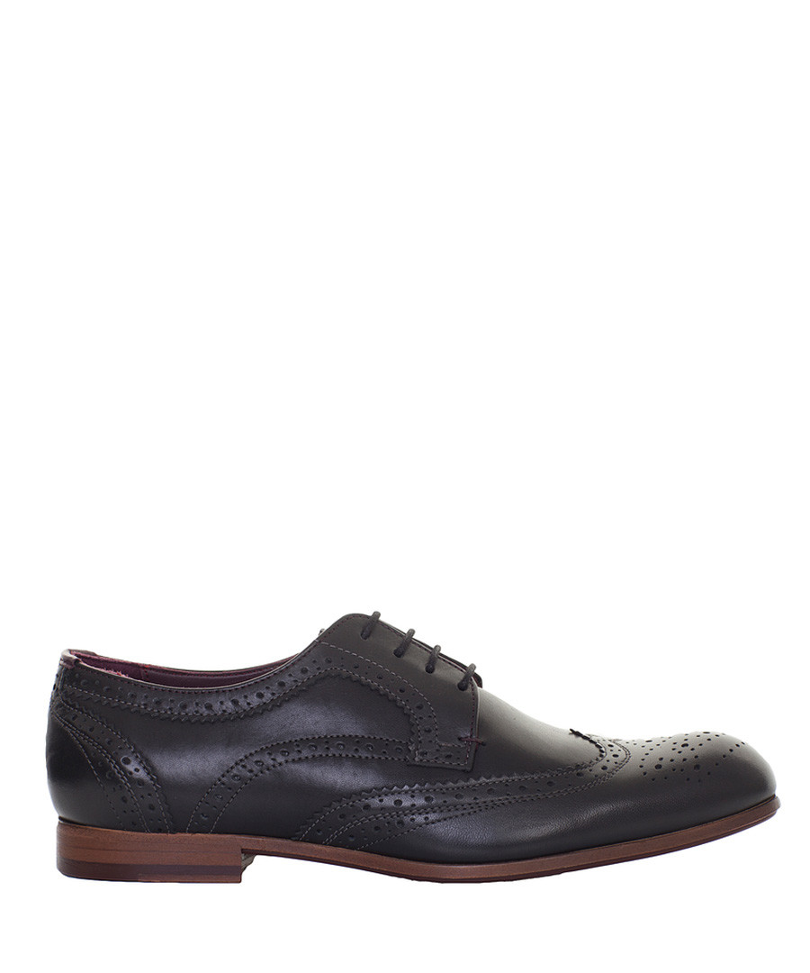 Black leather brogues Sale - ted baker