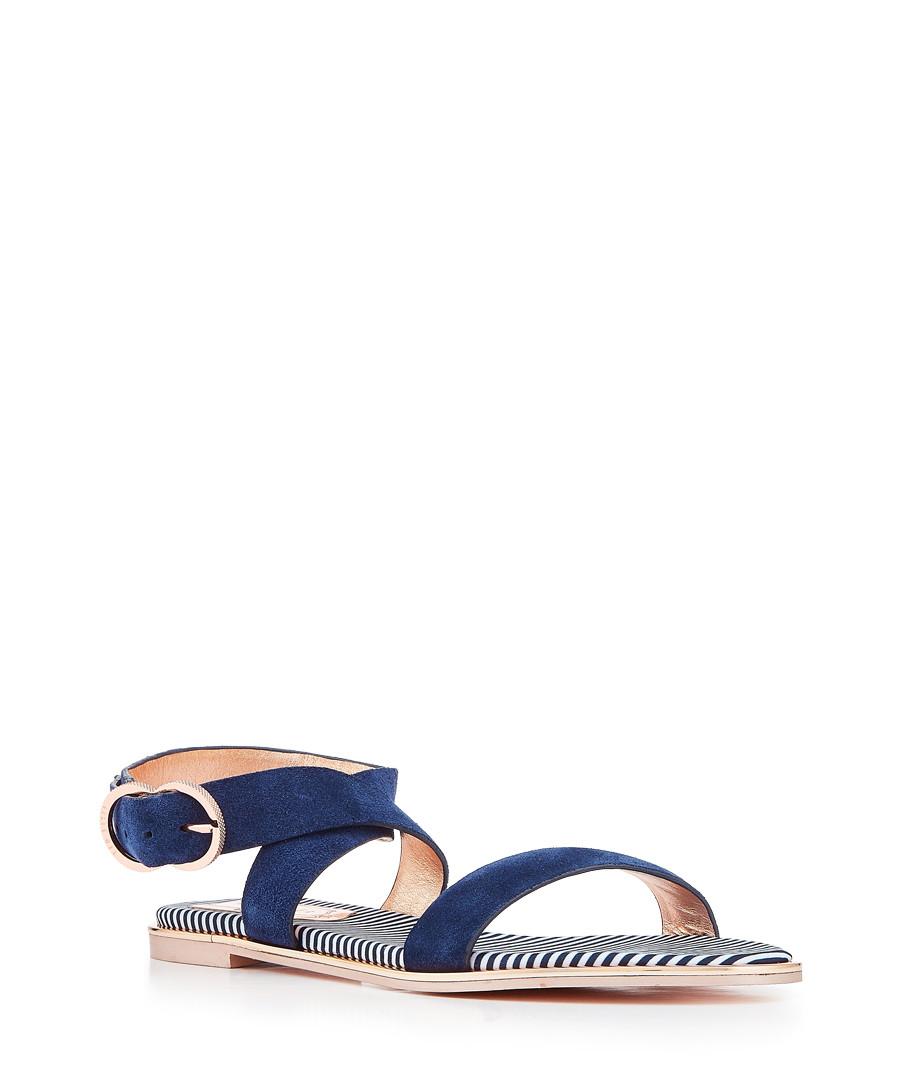 45626f392da418 ... Navy suede buckle sandals Sale - Ted Baker ...