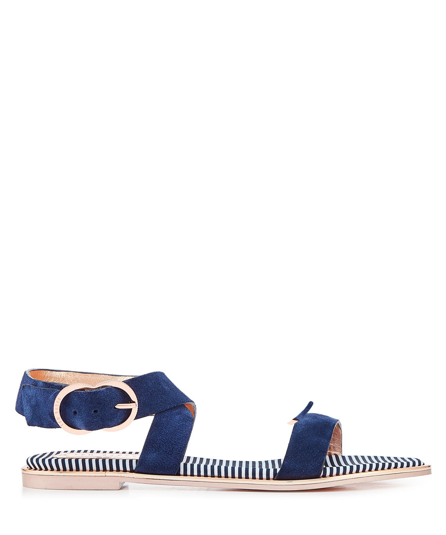 Navy suede buckle sandals Sale - ted baker
