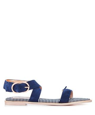 56164e2e10e35 Navy suede buckle sandals Sale - Ted Baker Sale