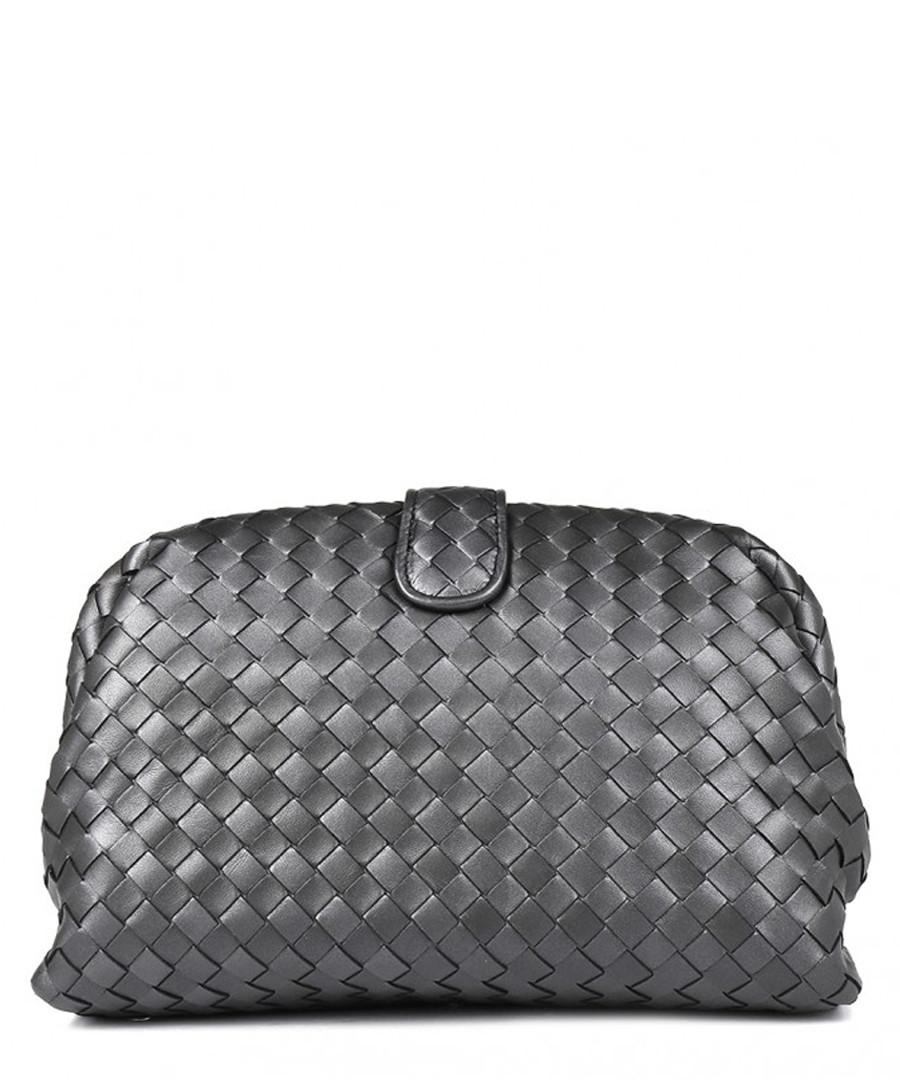 Black leather shoulder bag Sale - bottega veneta