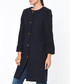 Dark blue knee length button up coat Sale - Dewberry Sale