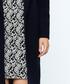 Dark blue wool blend knee length coat Sale - Dewberry Sale