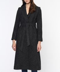 Anthracite wool blend trench coat