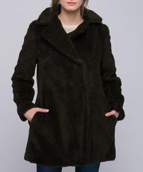 Khaki teddy coat