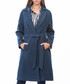 Blue knee length wrap coat Sale - dewberry Sale