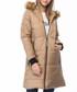 Beige knee length hooded puffer coat Sale - Dewberry Sale