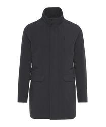 Black high neck coat