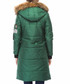 Green knee length hooded puffer coat Sale - Dewberry Sale