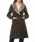 Khaki knee length detail coat Sale - Dewberry Sale