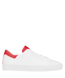 White & red lace up sneakers