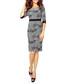 Grey leaf print midi dress Sale - bergamo Sale
