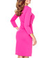 Pink pleat long-sleeve midi dress Sale - bergamo Sale