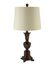 Pembroke bronze-tone & grey table lamp
