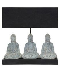 Boho Buddha black lamp