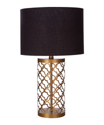 Lexis copper-tone lattice table lamp