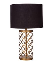 Lexis copper-tone lattice table lamp