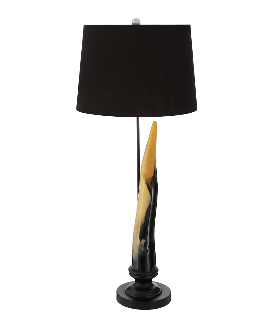 Horn black table lamp Sale - premier