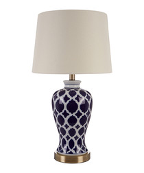 Paloma blue ceramic table lamp