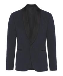 Navy wool blend blazer