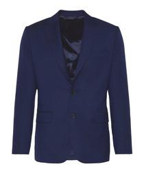 Blue pure wool blazer