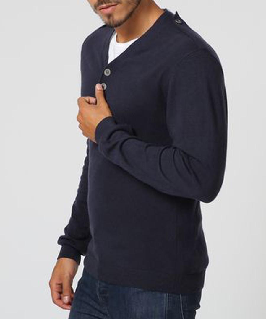 Men's blue cashmere & silk blend jumper Sale - william de faye